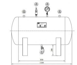 Bản vẽ bình chứa khí nén cho ngành rửa xe